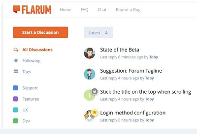 flarum forum software