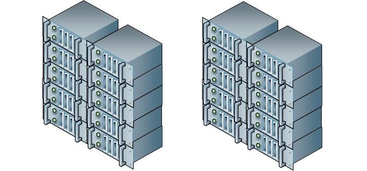 rack-mounted servers