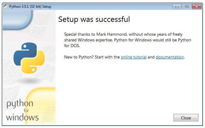 confirm python install success
