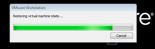 Restoring virtual machine state