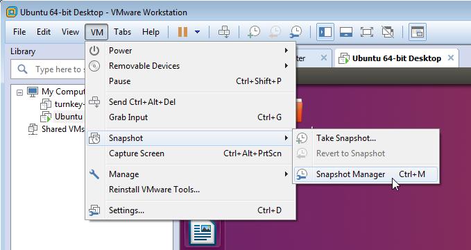 VM Snapshot Snapshot Manager