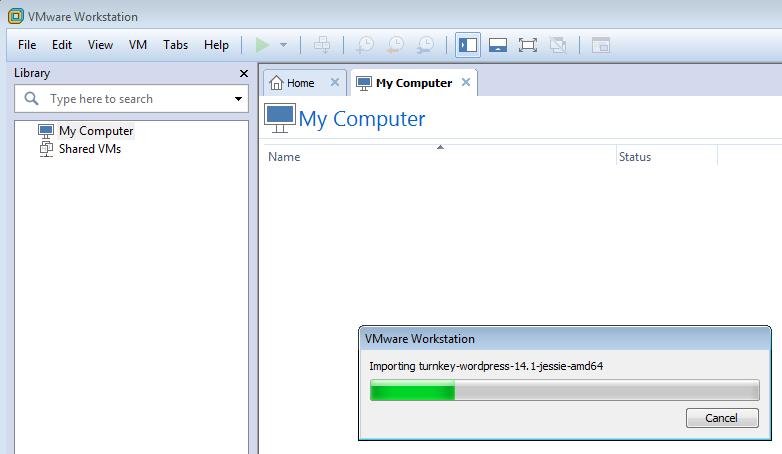 VMware importing turnkey ova