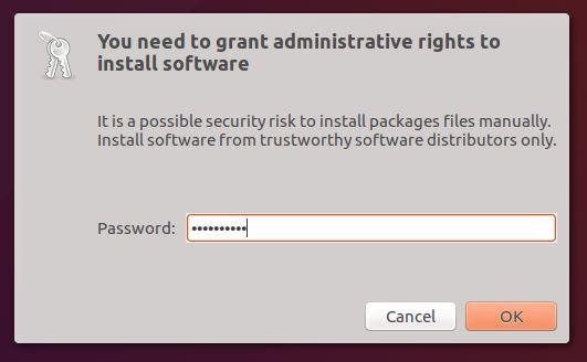 otorgar derechos administrativos para instalar software