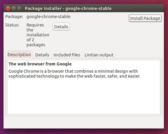 instalar el paquete google-chrome-stable