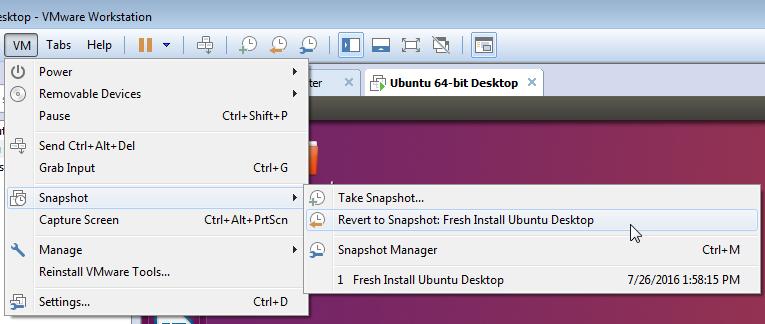 volver a la nueva instalación de ubuntu