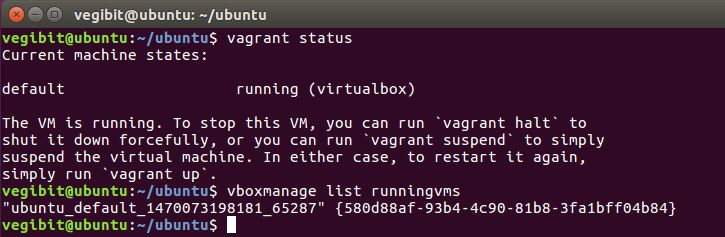a brand new virtual machine status