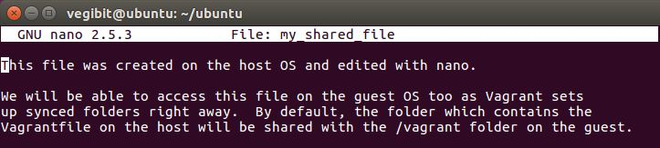linux nano file editing