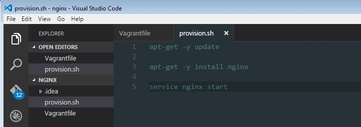 how to create web development environment on vagrant