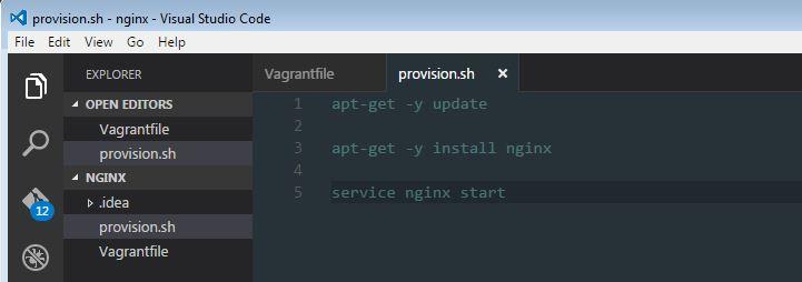 Instalación del script de shell de Nginx