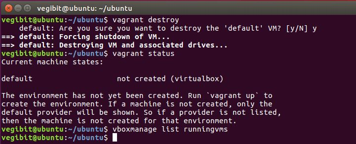 vagrant destroy