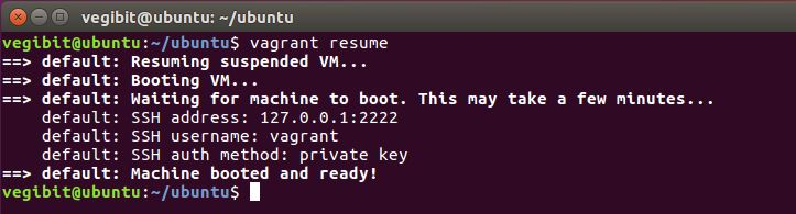 vagrant resume
