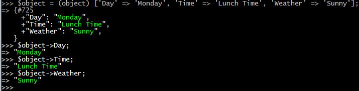 matriz-conversión-a-objeto-php