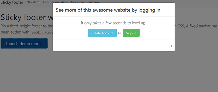 bootstrap-4-modal-with-links-to-login-and-signup