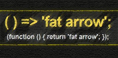 es6 fat arrow syntax