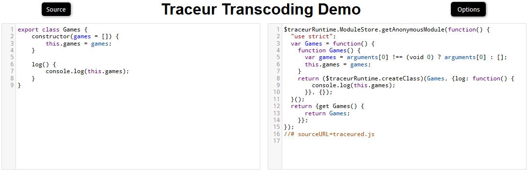 google traceur transcoding demo