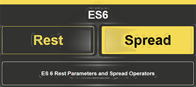 rest parameter spread operator