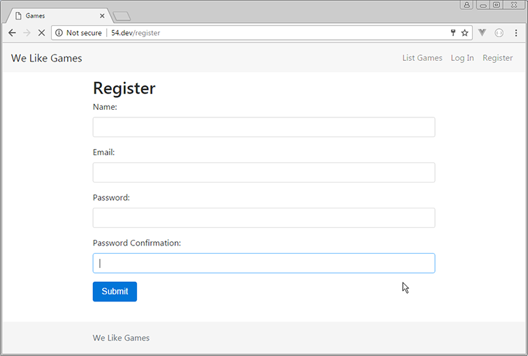 add password confirmation to register form