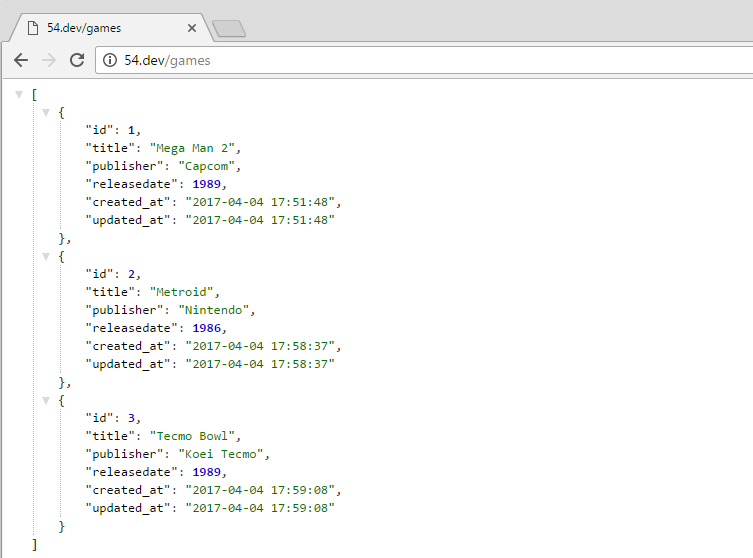 laravel collection rendered as json
