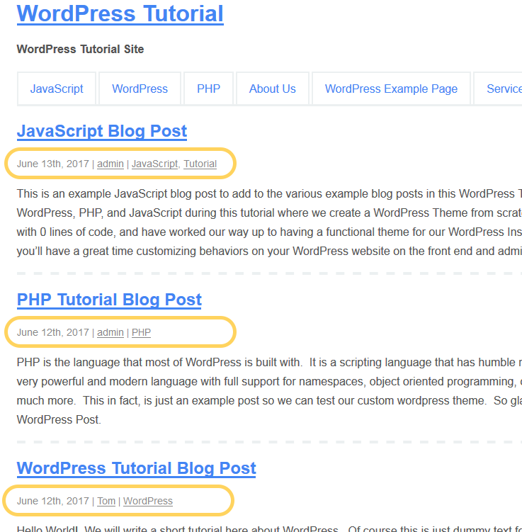 how to style wp post meta
