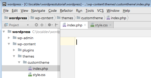 indexphp and stylecss files