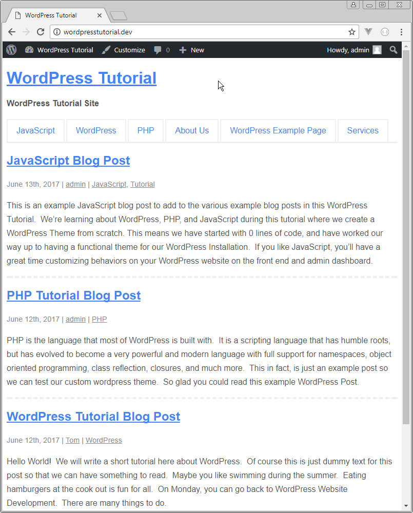 no excerpt on wordpress homepage
