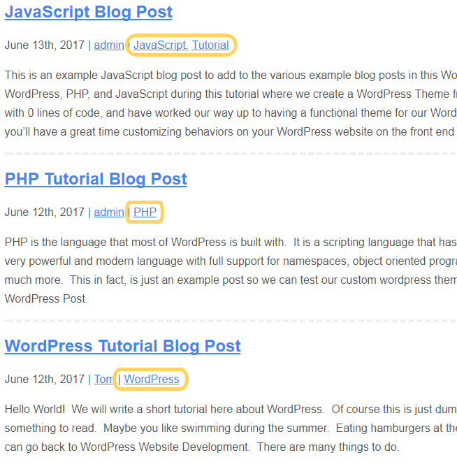 output of category link in wp post meta