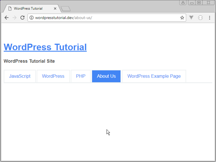 using get_header function on page-php