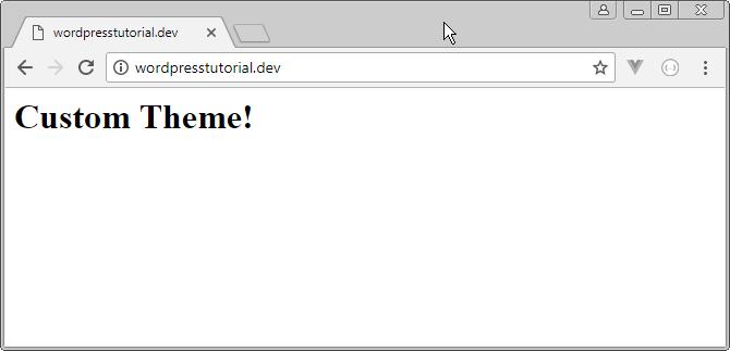 wordpress custom theme