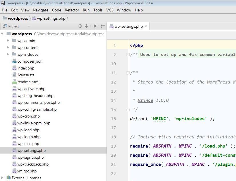 wordpress files on host machine of vagrant environment