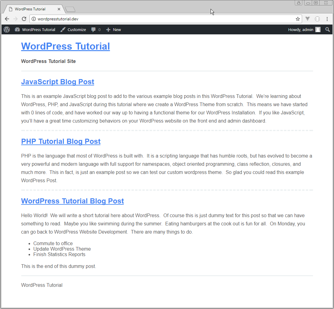 how to create your own wordpress theme from scratch