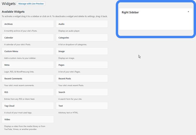 nombrar ubicaciones de widgets