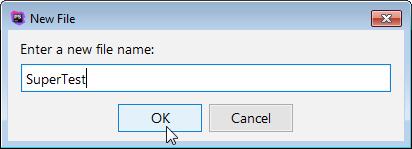 create new test file