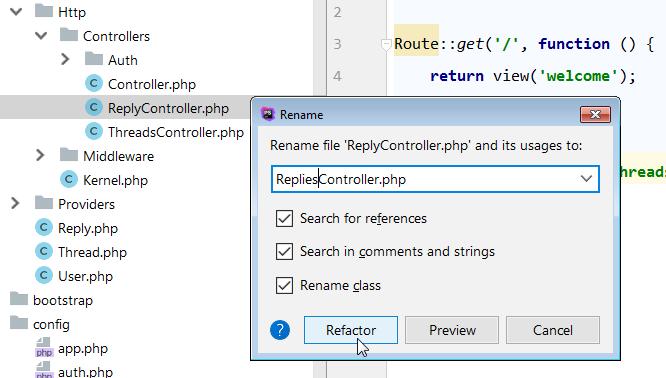 refactor to rename controller method 2