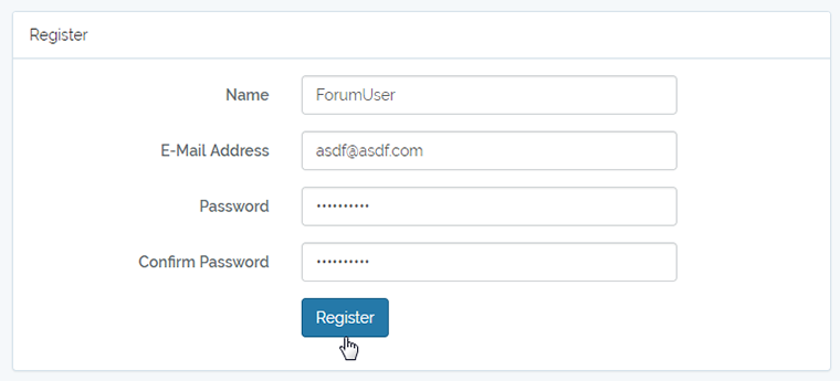 register for a new account
