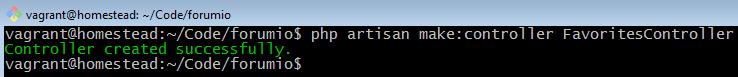 php artisan make favorites controller