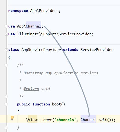 phpstorm import class