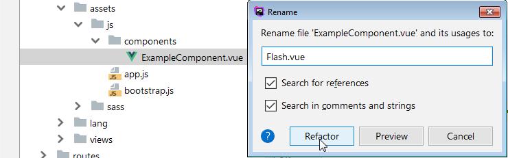 creando un componente de mensaje flash en vue