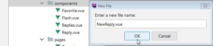 nuevo archivo vue para componente