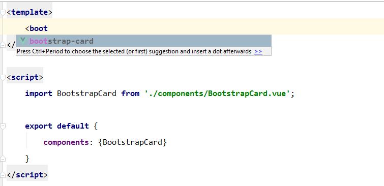 vue component in phpstorm