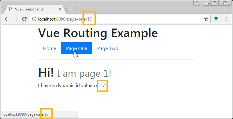 fetching dynamic params vue router