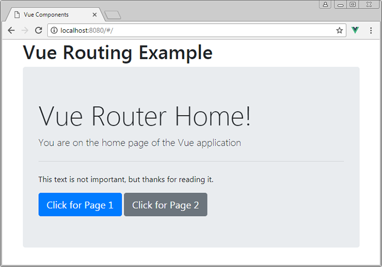 vue default route home page