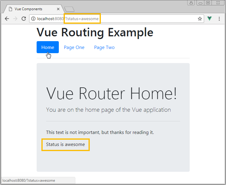 vue router query params example two
