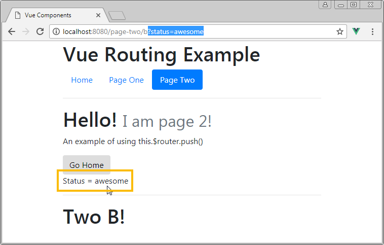 vue router query params