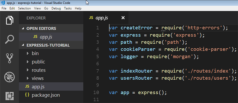 express generator folder structure