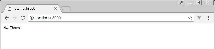 node server in the browser