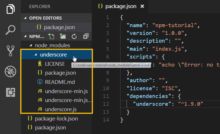 packages stored in node_modules