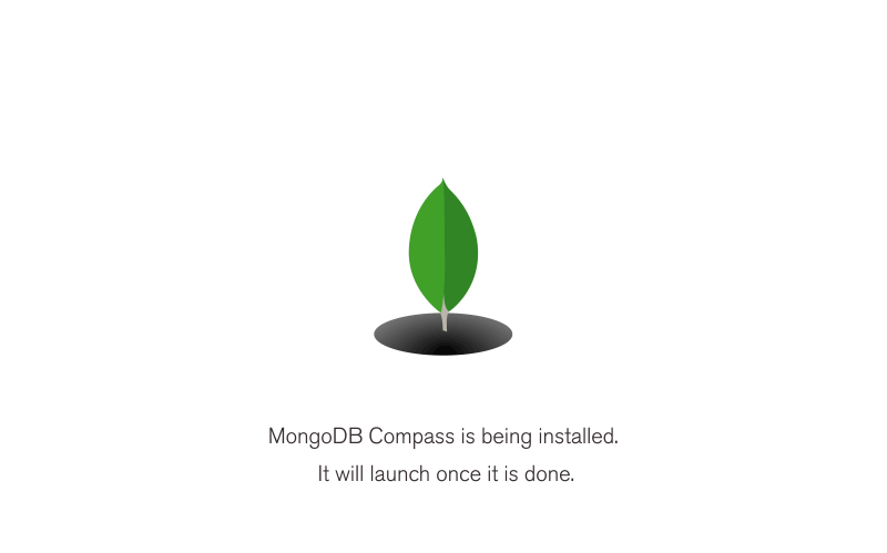 mongodb compass is being installed