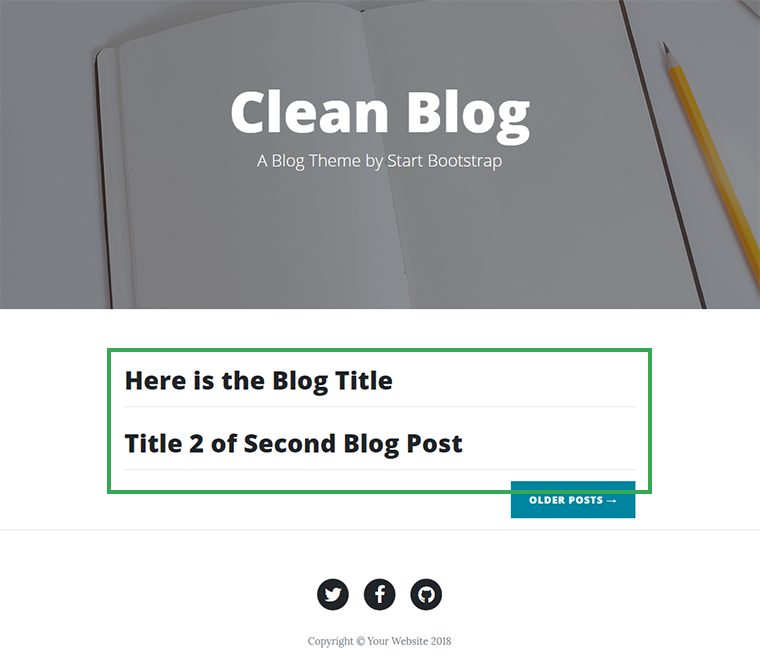display multiple blog posts
