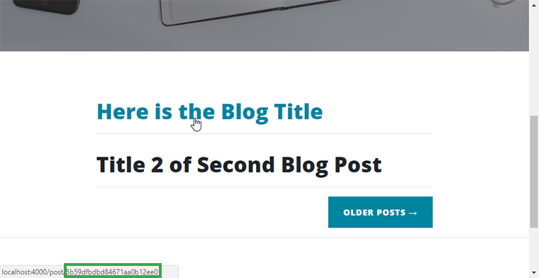 link to objectid of each blog post