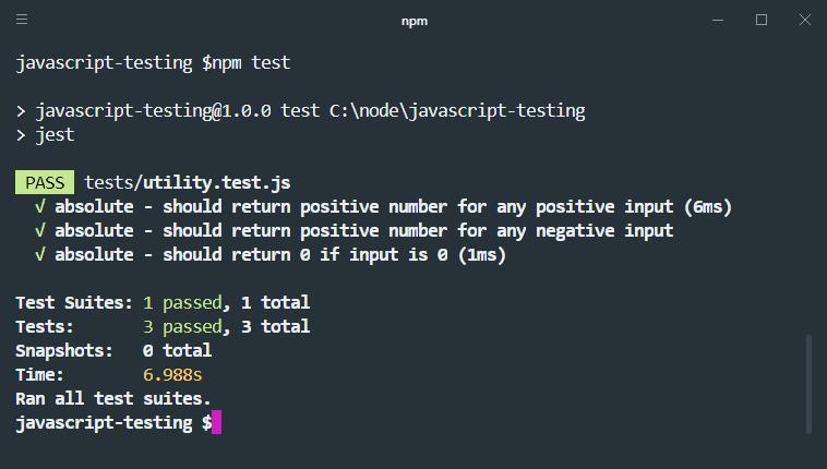 three good jest tests